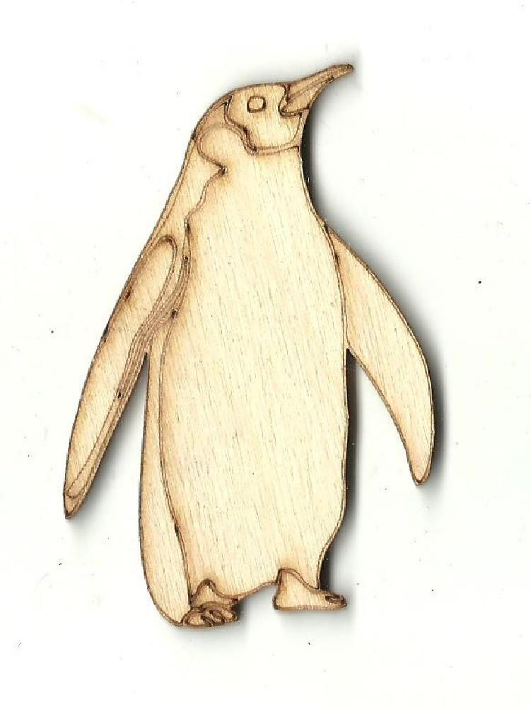 Penguin - Laser Cut Wood Shape Brd41 Craft Supply