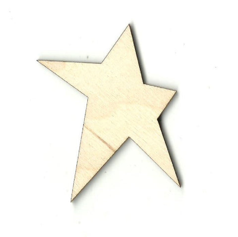 Folk Star - Laser Cut Wood Shape BSC1