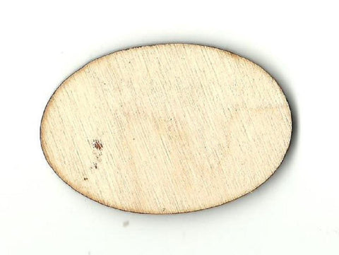 Oval - Laser Cut Wood Shape Bsc10 Craft Supply