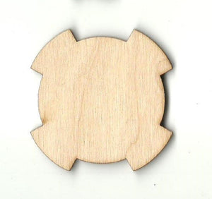 Cross Circle - Laser Cut Wood Shape Bsc23 Craft Supply