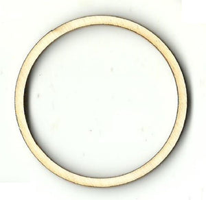 Hollow Circle - Laser Cut Wood Shape Bsc29 Craft Supply