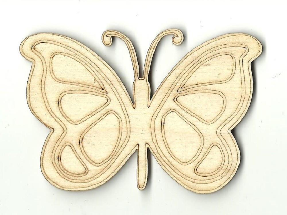 Butterfly - Laser Cut Wood Shape Bug14 Craft Supply
