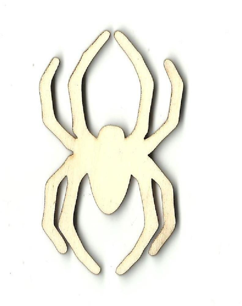 Spider - Laser Cut Wood Shape Bug1 Craft Supply