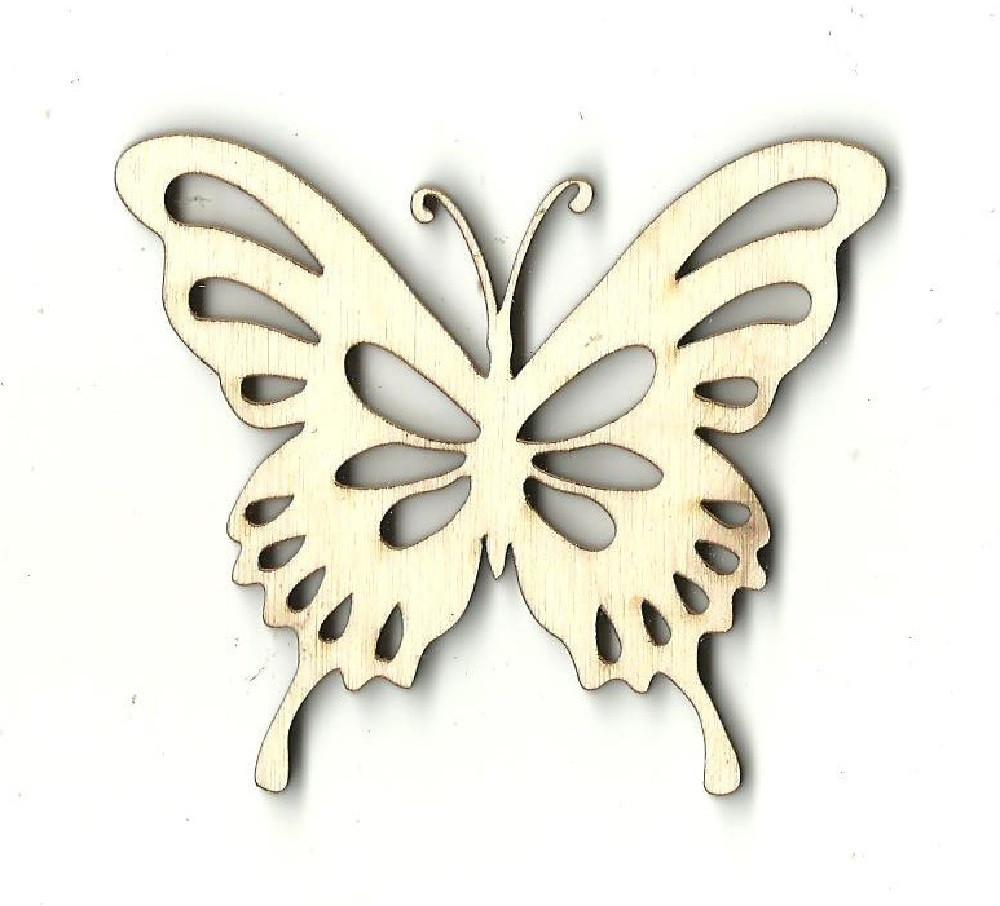 Butterfly - Laser Cut Wood Shape Bug20 Craft Supply