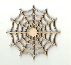 Spiderweb - Laser Cut Wood Shape Bug21 Craft Supply