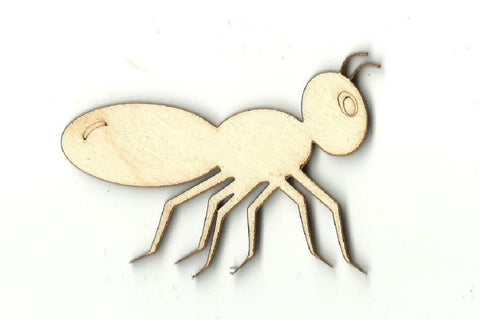 Ant - Laser Cut Wood Shape Bug25 Craft Supply