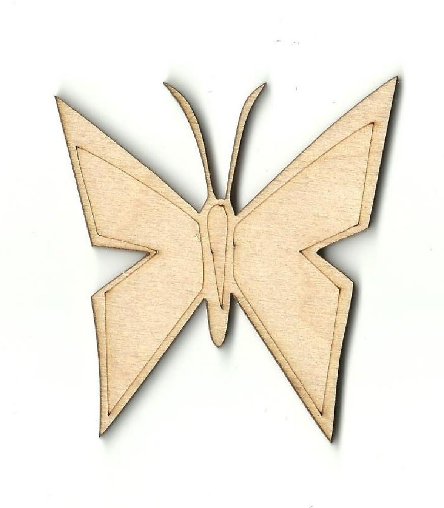 Butterfly - Laser Cut Wood Shape Bug26 Craft Supply
