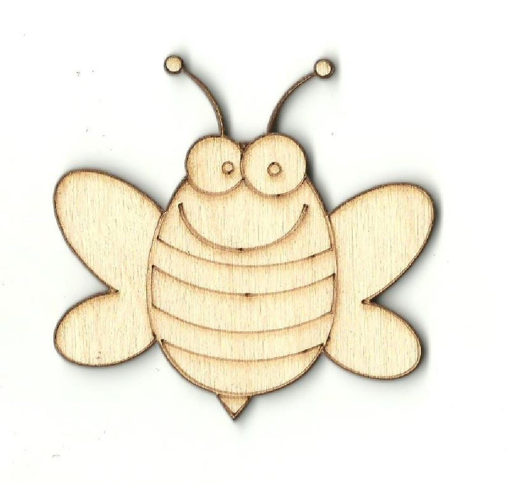 Bumblebee - Laser Cut Wood Shape Bug28 Craft Supply