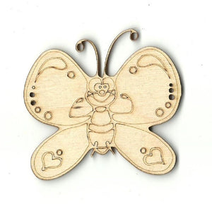 Butterfly - Laser Cut Wood Shape Bug38 Craft Supply