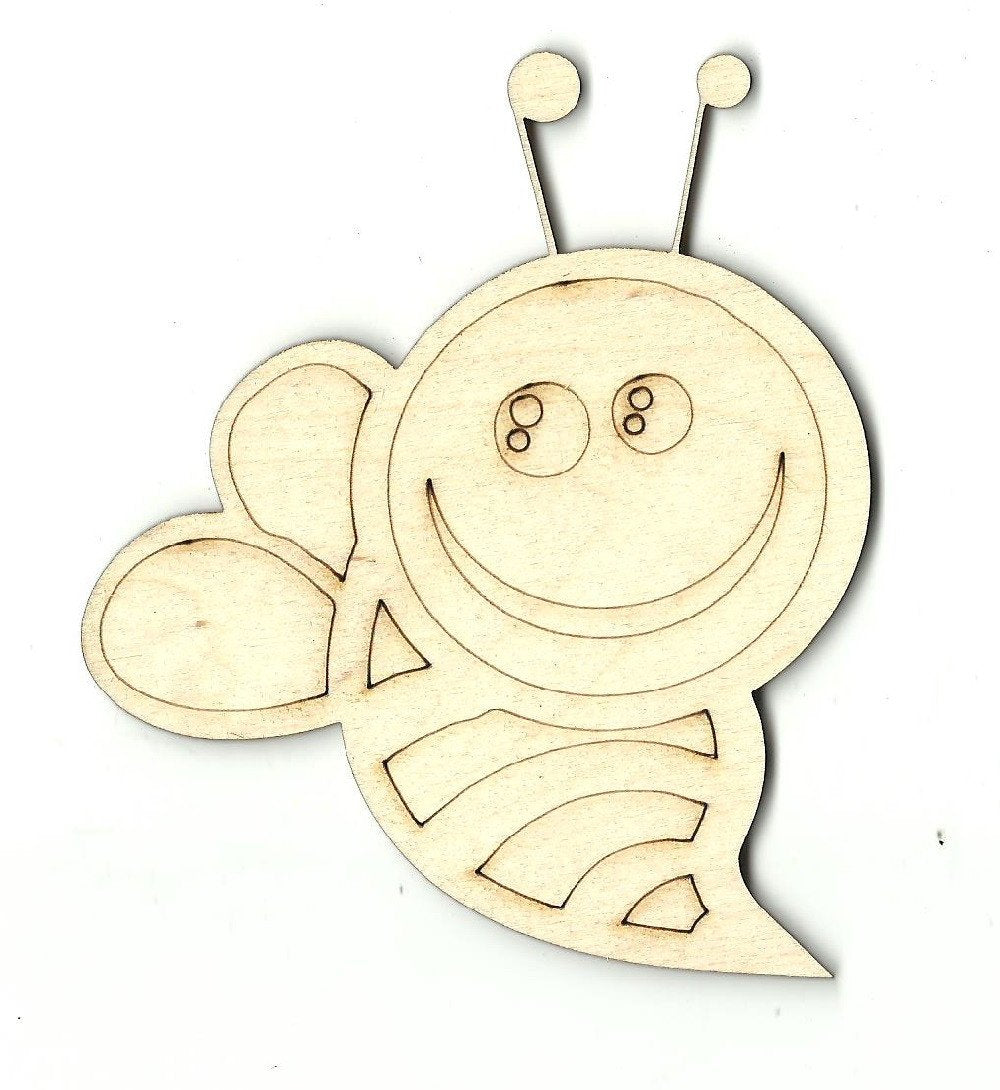 Bumblebee - Laser Cut Wood Shape Bug3 Craft Supply