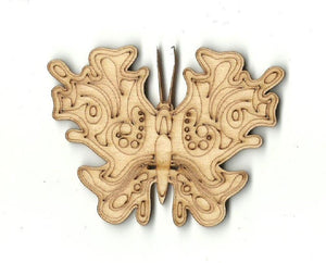 Butterfly - Laser Cut Wood Shape Bug41 Craft Supply