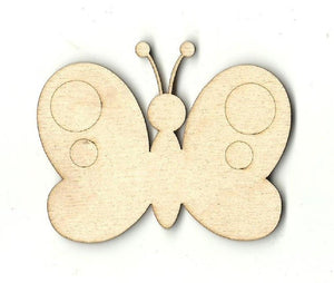 Butterfly - Laser Cut Wood Shape Bug43 Craft Supply