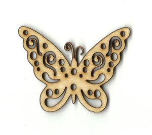 Butterfly - Laser Cut Wood Shape Bug60 Craft Supply