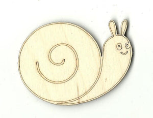 Snail - Laser Cut Wood Shape Bug7 Craft Supply