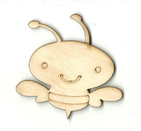 Bee - Laser Cut Wood Shape Bug86 Craft Supply
