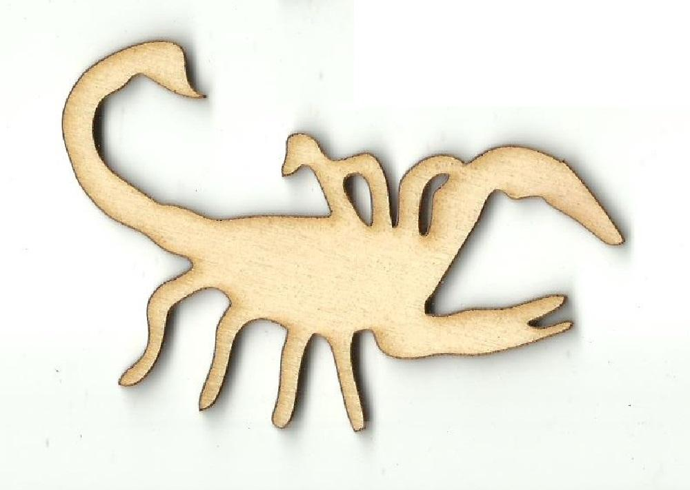 Scorpion - Laser Cut Wood Shape Bug90 Craft Supply