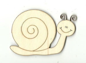 Snail - Laser Cut Wood Shape Bug9 Craft Supply