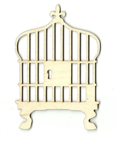 Bird Cage - Laser Cut Wood Shape Cag1 Craft Supply