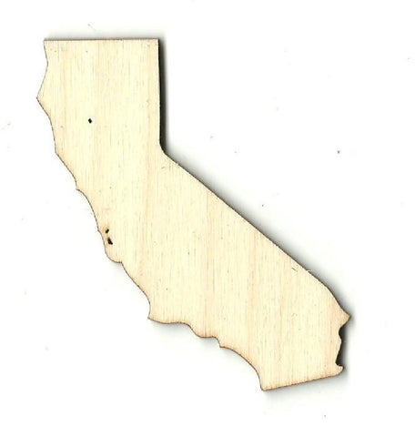 California Us State - Laser Cut Wood Shape Craft Supply