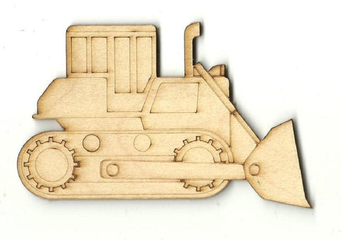 Bulldozer - Laser Cut Wood Shape Car103 Craft Supply