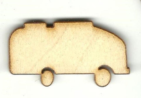 Camper - Laser Cut Wood Shape Car105 Craft Supply