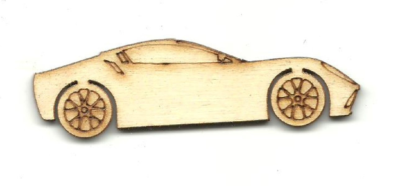 Sports Car - Laser Cut Wood Shape Car117 Craft Supply