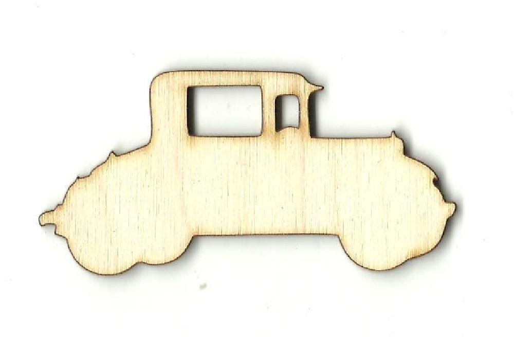 Vintage Car - Laser Cut Wood Shape Car94 Craft Supply