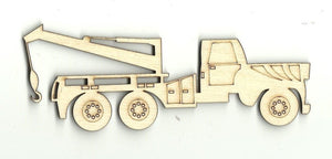 Tow Truck - Laser Cut Wood Shape Car27 Craft Supply