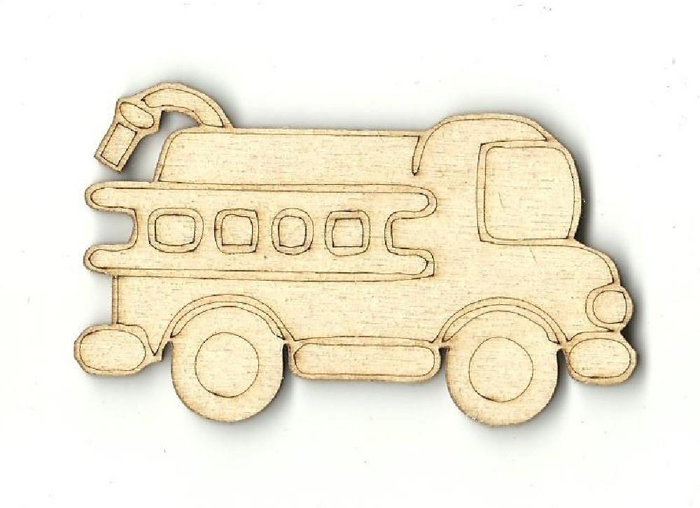 Firetruck - Laser Cut Wood Shape Car30 Craft Supply