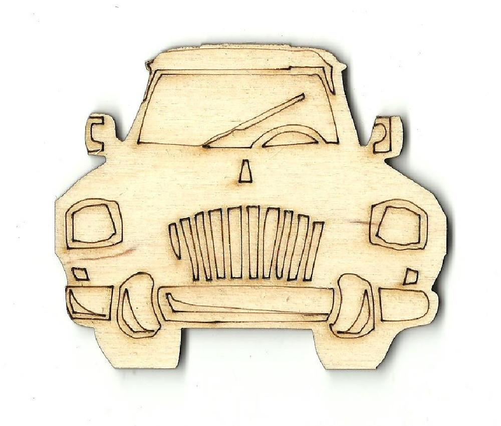 Car - Laser Cut Wood Shape Car3 Craft Supply