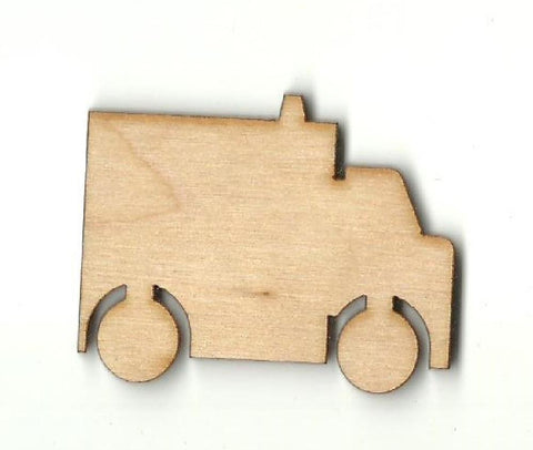 Ambulance - Laser Cut Wood Shape Car61 Craft Supply