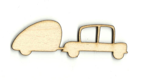 Car & Camper - Laser Cut Wood Shape Car87 Craft Supply