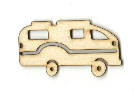 Camper - Laser Cut Wood Shape Car86 Craft Supply