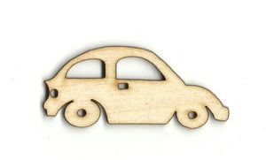 Volkswagen Bug - Laser Cut Wood Shape Car82 Craft Supply