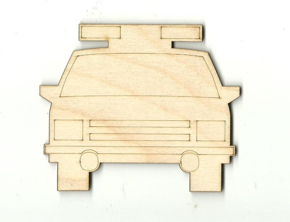 Police Car - Laser Cut Wood Shape Car6 Craft Supply