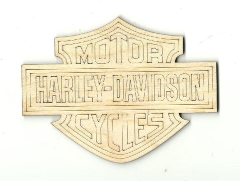 Motorcycle Sign - Laser Cut Wood Shape Car7 Craft Supply
