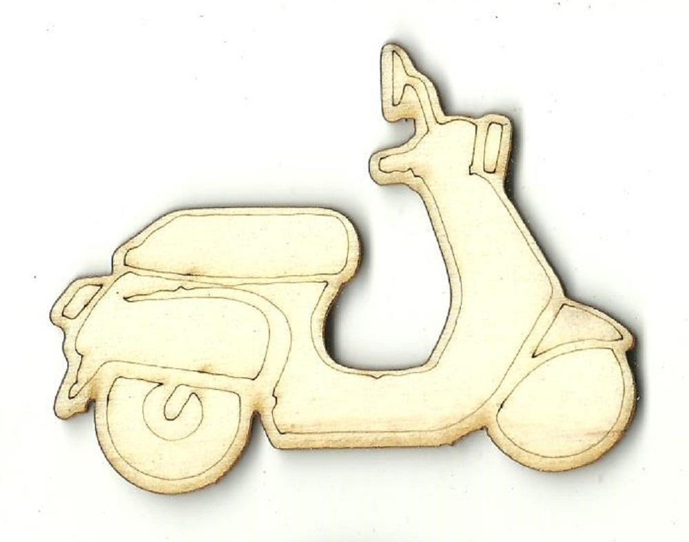 Scooter - Laser Cut Wood Shape Car89 Craft Supply