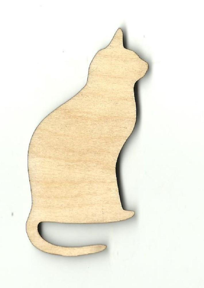 Kitty Cat - Laser Cut Wood Shape Cat33 Craft Supply