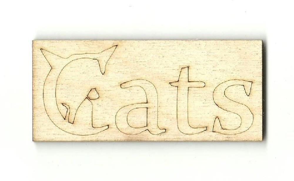 Cats - Laser Cut Wood Shape Cat16 Craft Supply