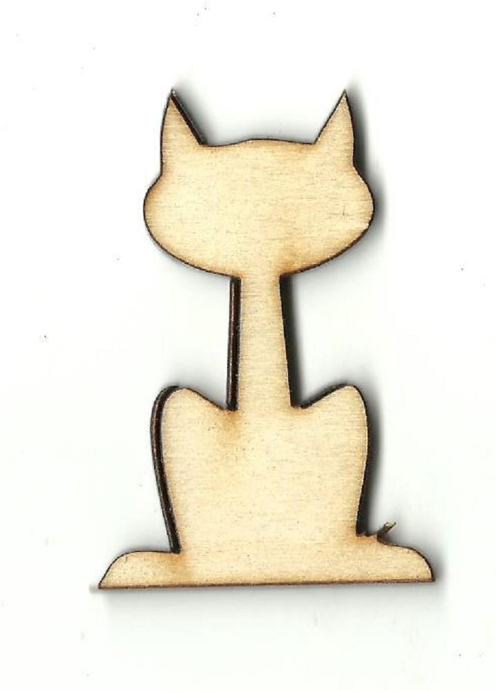 Kitty Cat - Laser Cut Wood Shape Cat35 Craft Supply