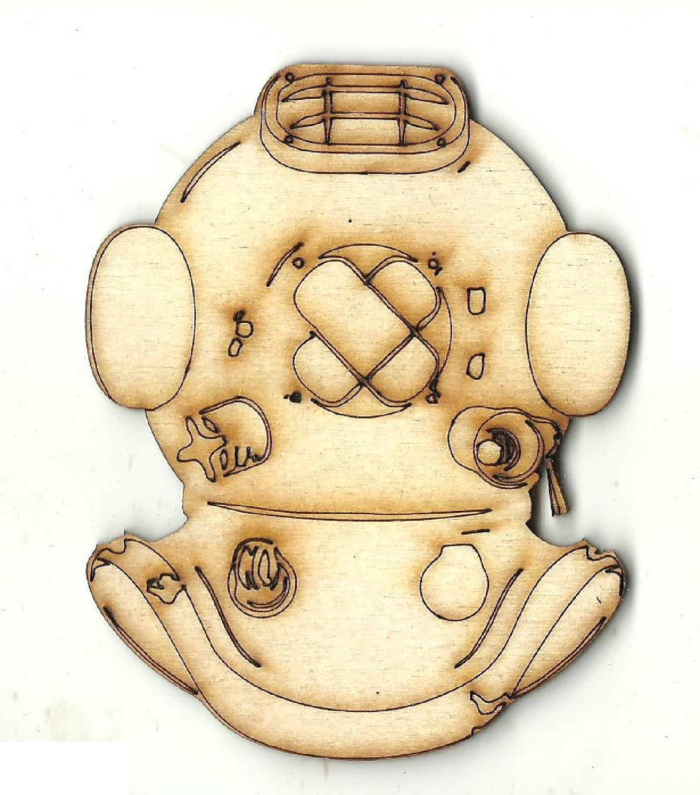 Divers Helmet - Laser Cut Wood Shape CLT113