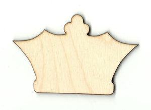 Crown - Laser Cut Wood Shape Clt24 Craft Supply