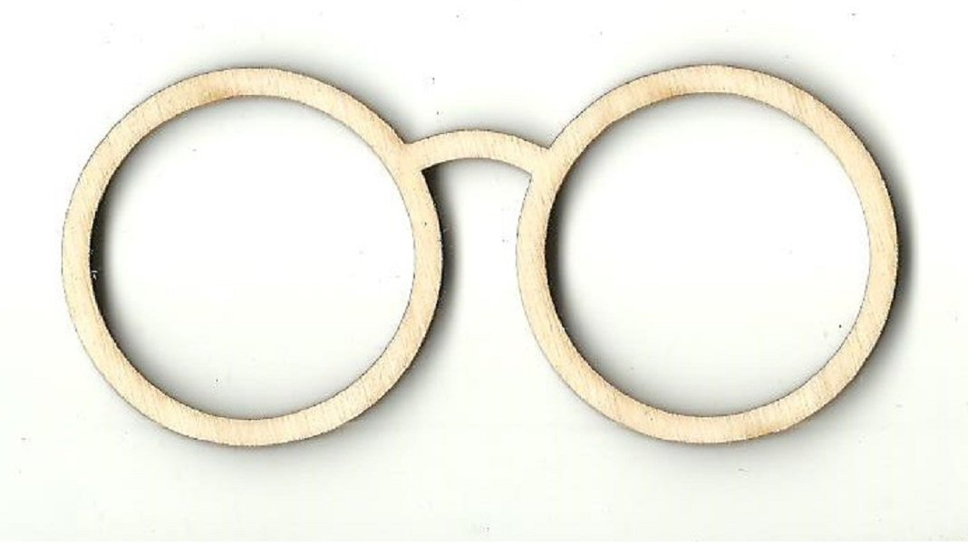 Glasses - Laser Cut Wood Shape Clt40 Craft Supply