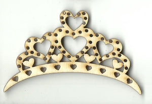 Tiara - Laser Cut Wood Shape Clt81 Craft Supply