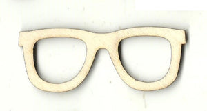 Glasses - Laser Cut Wood Shape Clt85 Craft Supply