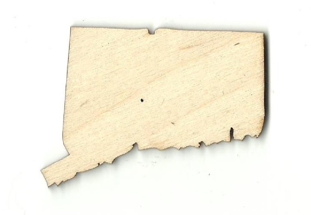 Connecticut Us State - Laser Cut Wood Shape Craft Supply