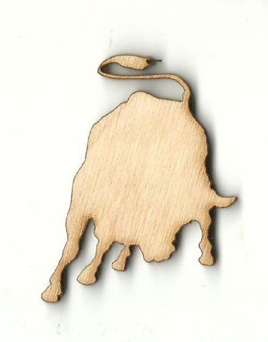 Bull - Laser Cut Wood Shape Cow13 Craft Supply