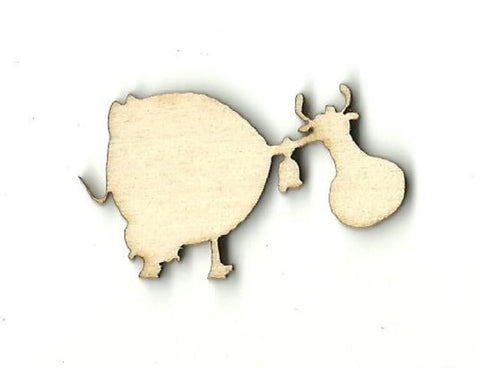 Cow - Laser Cut Wood Shape Cow14 Craft Supply