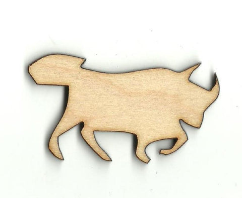 Bull - Laser Cut Wood Shape Cow19 Craft Supply