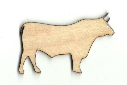 Bull - Laser Cut Wood Shape COW18